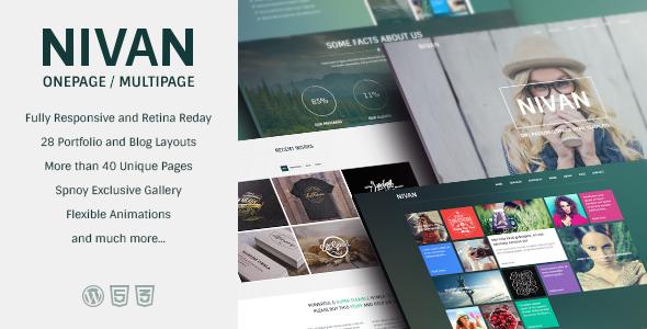 Nivan - One Page / Multi Page WordPress Theme