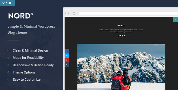 Nord - Minimal and Clean WordPress Personal Blog Theme