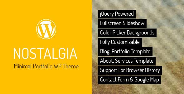 Nostalgia - Responsive Portfolio WordPress Theme
