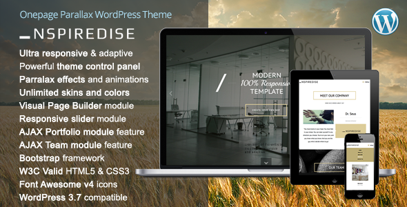 _NSPIREDISE - Onepage Parallax WordPress Theme