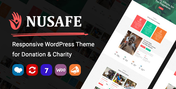 Nusafe | Responsive WordPress Theme for Donation & Charity