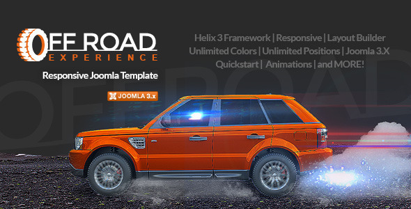 Off Road: Business Joomla Template for Outdoor Activities and Sports