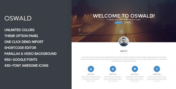 Oswald - Creative WordPress Portfolio Theme