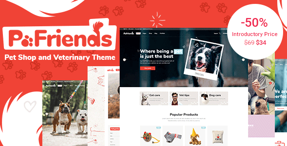 PawFriends - Pet Shop and Veterinary Theme