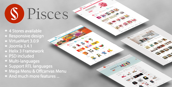 Pisces - Multipurpose Joomla & VirtueMart Template