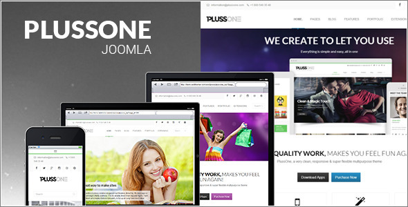 Plussone - Joomla Business Template