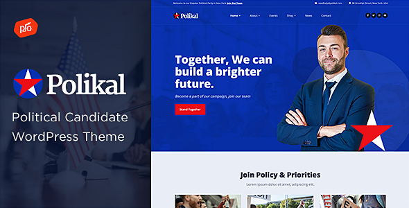 Polikal - Political Candidate & Party Theme
