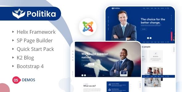 Politika - Political & Election Campaign Joomla Template
