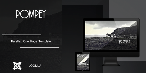 Pompey - Parallax One Page Joomla Template