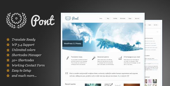 Pont - Multipurpose Wordpress Theme