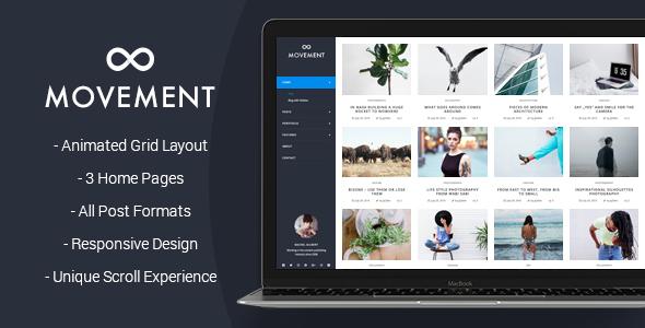 Portfolio Blog WordPress Theme - Movement