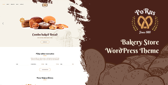 Porus - Bakery Store WordPress Theme