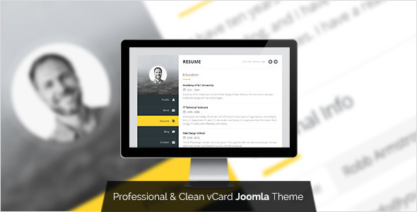 Premium Layers: Joomla vCard & Resume Template