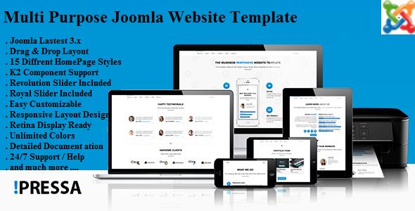 Pressa - Multi Purpose Joomla Virtuemart Template