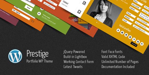 Prestige - Portfolio WordPress Theme