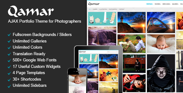 Qamar - Portfolio WordPress Theme for Photographers
