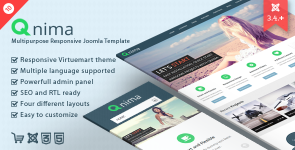 Qnima - Responsive MultiPurpose Joomla Template