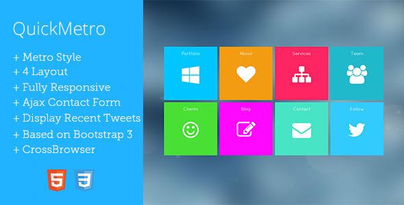 QuickMetro Responsive Metro Style WordPress Theme