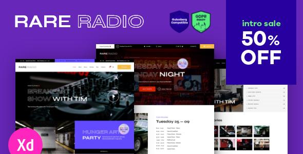 Rare Radio | Online Music WordPress Theme