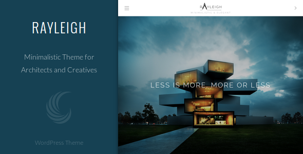 Rayleigh - A Responsive Minimal Architect Theme