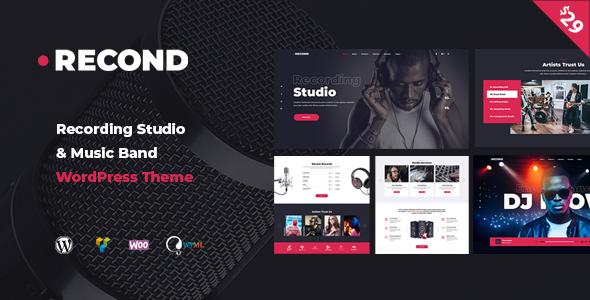 Recond - Recording Studio & Music Band WordPress Theme