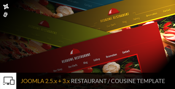 RedBowl Restaurant - Responsive Joomla Template