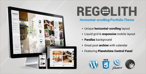 Regolith — Responsive Horizontal Portfolio Theme