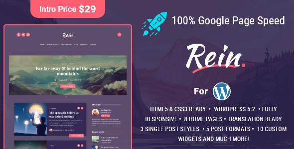 Rein - Lightweight Dark Theme for WordPress