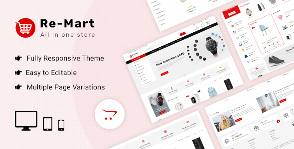 Remart - Multipurpose MarketPlace Opencart 3 Theme
