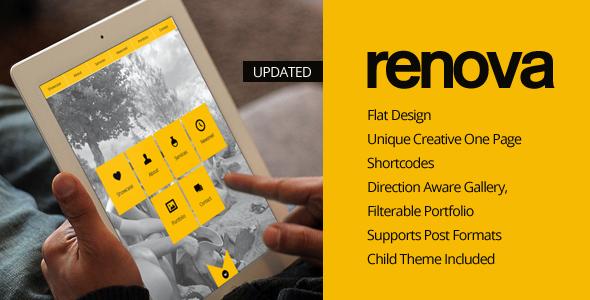 RENOVA - WordPress One Page Responsive Portfolio