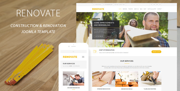 Renovate | Construction Renovation Joomla Template