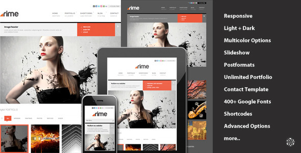Rime - Responsive Portfolio for WordPress