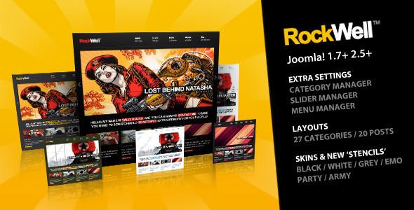 Rockwell - Joomla Template