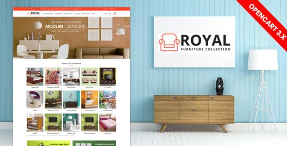 Royal Furniture Responsive Website Template