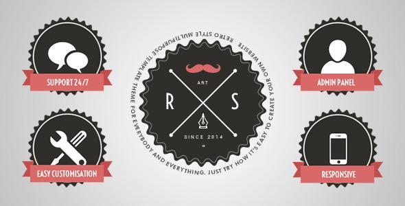 Rs Retro - Responsive Premium Joomla Theme