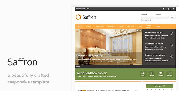 Saffron - Business Responsive Joomla Template