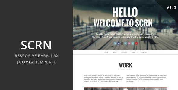 SCRN - Responsive Parallax Joomla Template