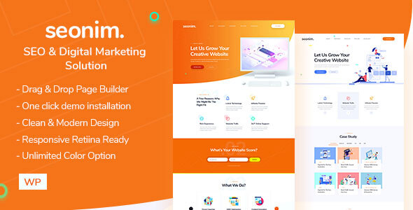 Seonim - Digital Marketing Agency WordPress Theme
