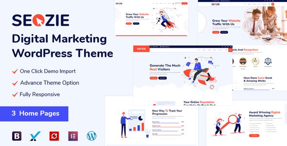 Seozie - Digital Marketing WordPress Theme