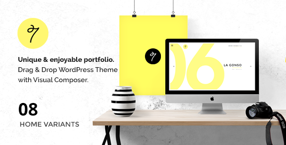 SEVEN - Minimal Portfolio / Agency WordPress Theme