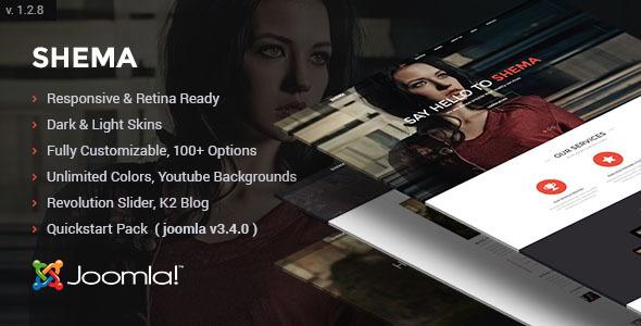 Shema - Creative One Page Joomla Template