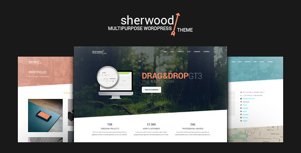 Sherwood - One Page and Multipage WordPress Theme