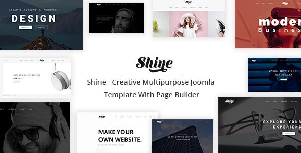 Shine - Creative Multipurpose Joomla Template With Page Builder
