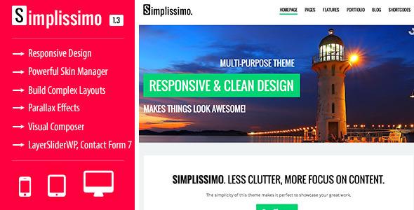 Simplissimo - A Clean Multi-Purpose Theme