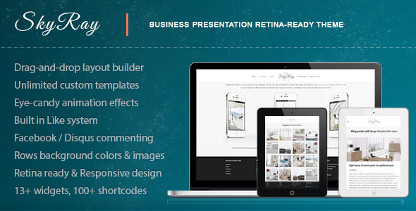 Skyray - Business Presentation Retina Theme