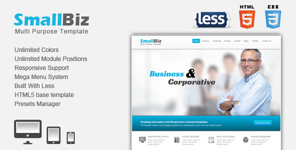 SmallBiz Responsive Multi Purpose Joomla Template