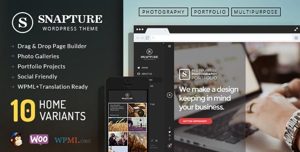 Snapture Photography & Corporate WordPress Theme