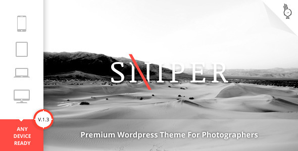 Sniper - Premium Photography Theme