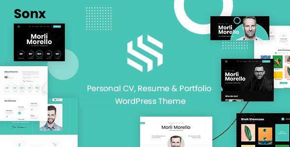 Sonx - Personal Portfolio WordPress Theme