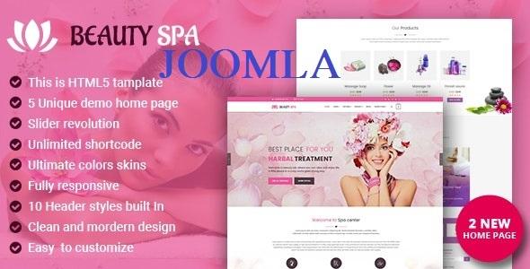 Spa Beauty Salon Joomla Template